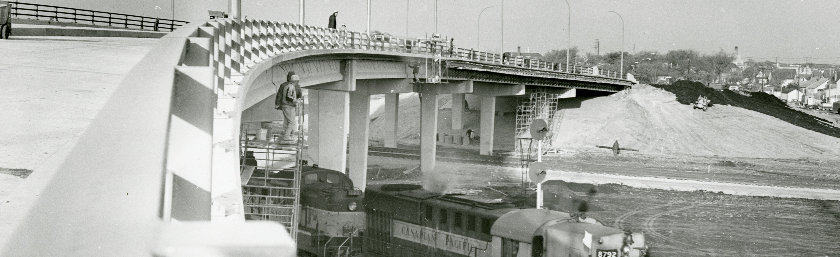 Nairn Overpass approaching completion, October 1967