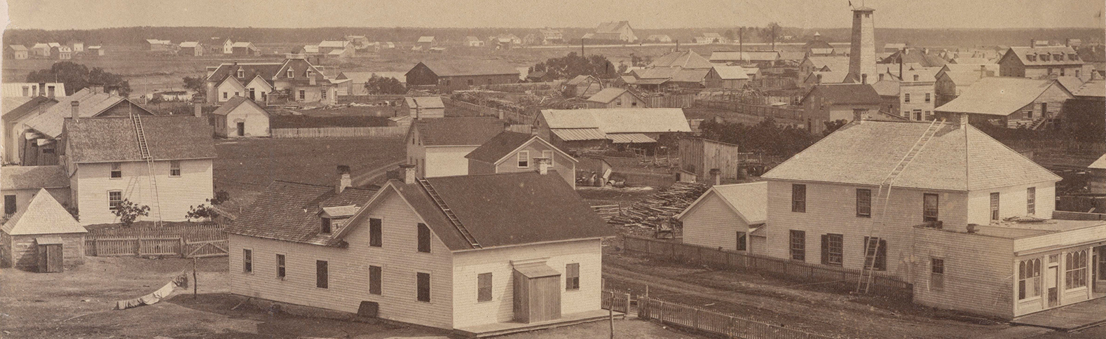 Part of East Ward, with St. Boniface in the Distance, 1875