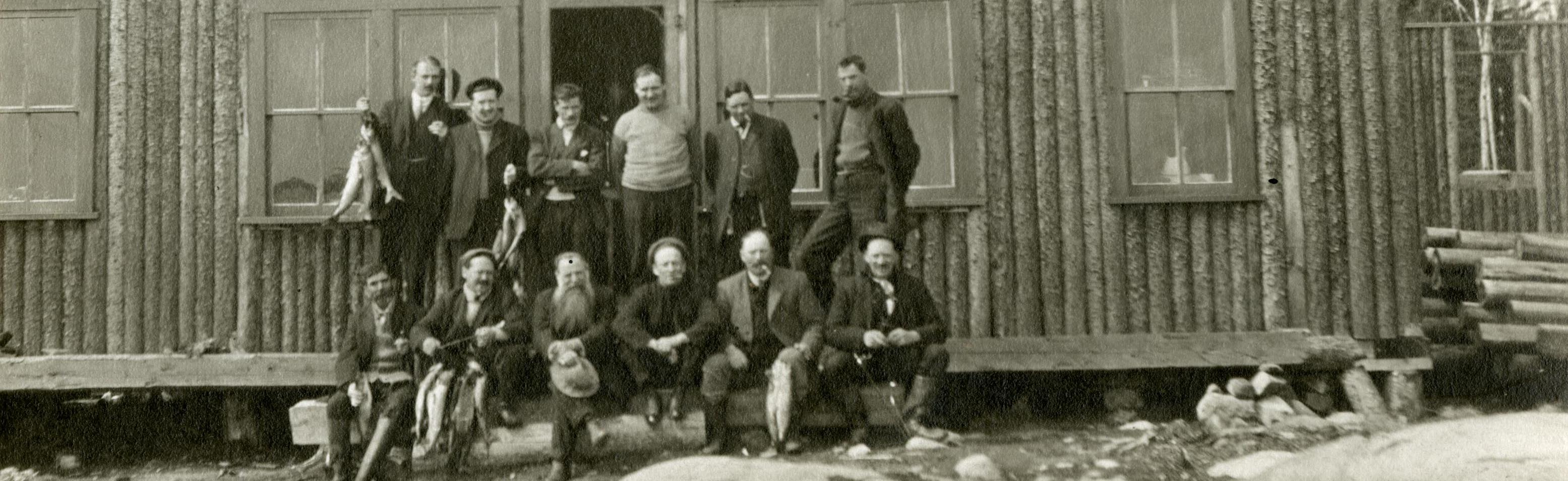City Clerk's Department fishing trip, ca.1900