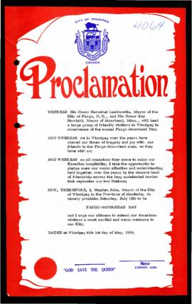 Proclamation - Fargo-Moorhead Day