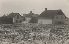 Rue Langevin, Floods, St. Boniface - April 1916