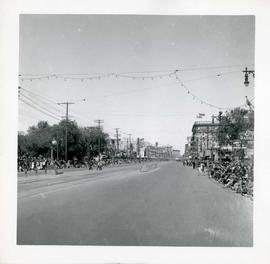 Winnipeg's 75th Anniversary parade - view of parade route