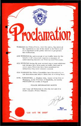 Proclamation - Police Information Month