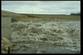 Courchaine Road - floodway gates