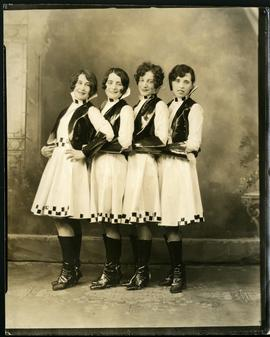 Dancers in costume at the Malborough Hotel for The Springtime Festival, under Auspices of the Catholic Women's League