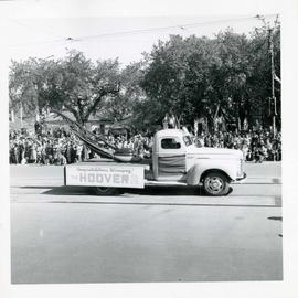 Winnipeg's 75th Anniversary parade - Hoover Company float