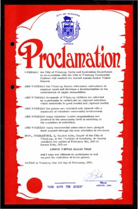 Proclamation - Junior Winter Games Time