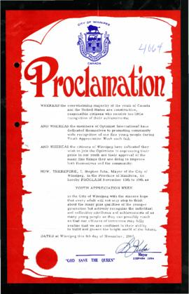 Proclamation - Youth Appreciation Week