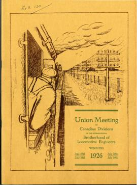Souvenir Programme of Brotherhood of Locomotive Engineers meeting