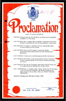 Proclamation - Boat Week in Winnipeg
