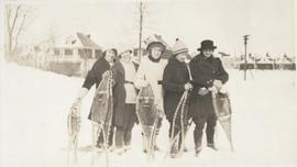 Group of women with snowshoes