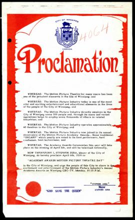 Proclamation - Academy Awards Motion Picture Theatre Day