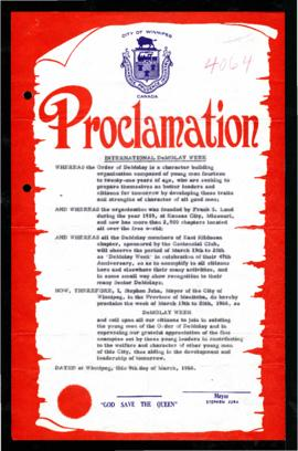 Proclamation - International DeMolay Week
