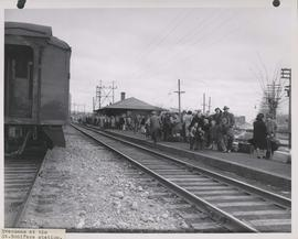 1950 Flood - Flood Evacuees at the St. Boniface train station