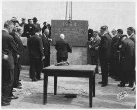 No. 10 - Laying of the cornerstone at new City Hall, May 15, 1964 (shows placing of casket)