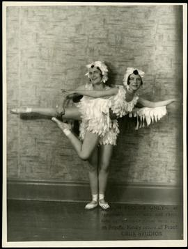 Grace and Betty Parker in eagle costumes