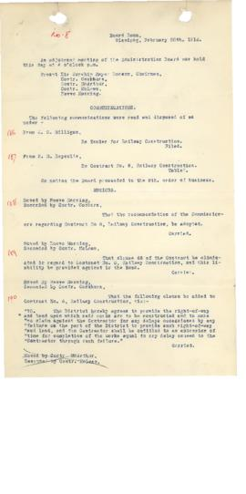 GWWD Board of Administration Minutes, numbers 186-194