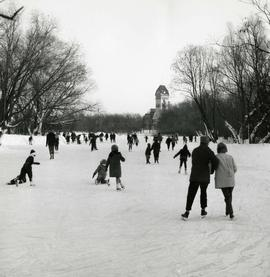 Skating on the Assiniboine Duck Pond