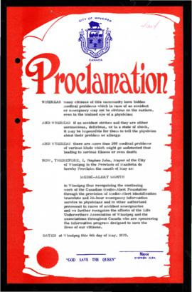 Proclamation - Medic-Alert Month
