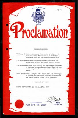 Proclamation - Purchasing Week