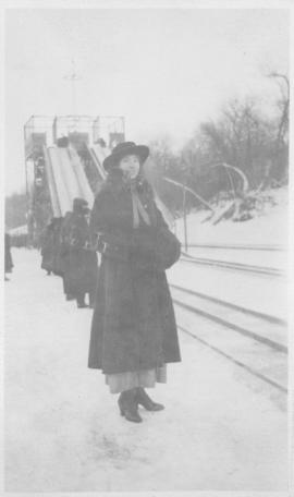 Maude on Assiniboine Rink - 1918