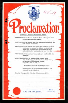 Proclamation - National Forest Products Week