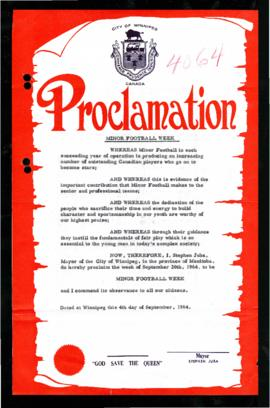 Proclamation - Minor Football Week