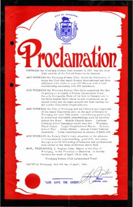 Proclamation - Winnipeg Rotary Club Leisureland Week