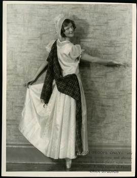 A dancer in costume