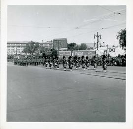 Winnipeg's 75th Anniversary parade - Mounties and marching band