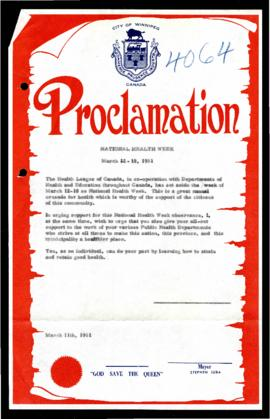 Proclamation - National Health Week