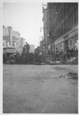 No. 6 Renewal of 8 inch cast iron water pipe in Portage Avenue from Kennedy Street to Main Street with 10 inch transit pipe, laid June, 1938
