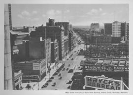 Main Street from top of Royal Bank Building, looking South, Winnipeg, Manitoba