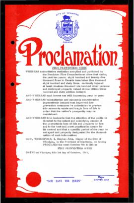 Proclamation - Fire Prevention Week