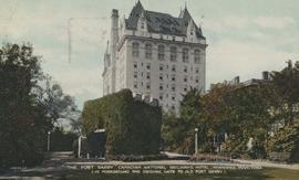 The Fort Garry Canadian National Railways' Hotel (in Foreground the Original Gate to Old For...