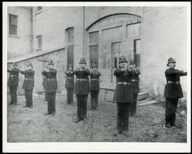 Winnipeg Police with outstretched arms