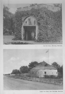 2 views: 1) Old Fort Garry, Winnipeg, Manitoba; 2) Lower Fort Garry near Winnipeg, Manitoba