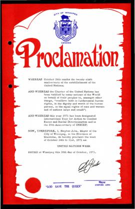Proclamation - United Nations Week