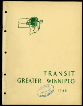 Preliminary Report on Transit - Metropolitan Plan for Greater Winnipeg