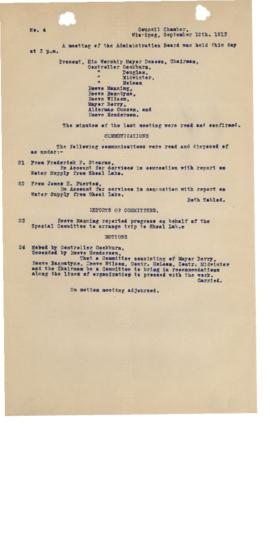 GWWD Board of Administration Minutes, numbers 21-24
