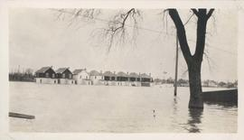 Homes under water on residential street, 1916 Flood, Norwood