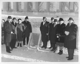 Laying of the cornerstone for Public Safety Building, November 30, 1965