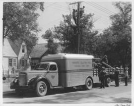 Winnipeg Electric Co. overhead lines department truck