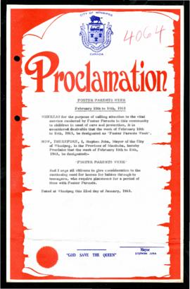 Proclamation - Foster Parents Week