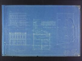 Elevation plans for business premises of Mr. F.J. Sharpe, Portage Avenue