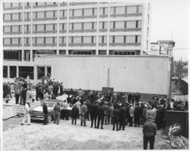 No. 6 - Laying of the cornerstone at new City Hall, May 15, 1964 (shows Civic Complex under construction)