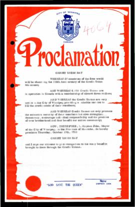 Proclamation - Credit Union Day