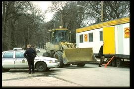 1997 flood - Kingston Row - security checkpoint