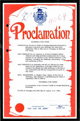 Proclamation - National Fur Week