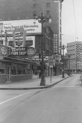 Overhanging Signs: East side of Main Street, South from Market Avenue